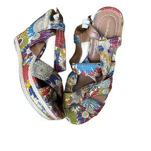 Hush Puppies HPO2 Flex Wedge Sandals Shoes SZ 7.5